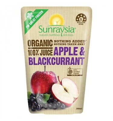 Sunraysia Apple & Black Currant Juice 200ml x 10
