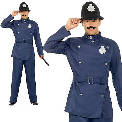 2004f4da63 London Bobby Costume Policeman Cop Adult Mens Halloween Fancy Dress Outfit
