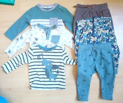 Baby Boys 6-9 Months Bundle Long Sleeved Tops & Trousers *8