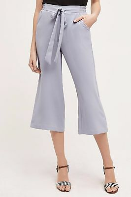 898bf4ac7ae3d NWT Anthropologie Cropped Nara Wide-Legs Sky Pants S Size Small ( 4 6 )