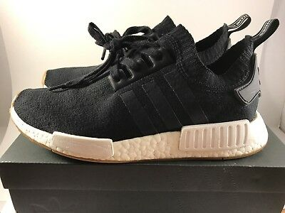 more photos 2e397 27506 ADIDAS NMD R1 PK Black Gum Sole BY1887 size 8.5 MEN used