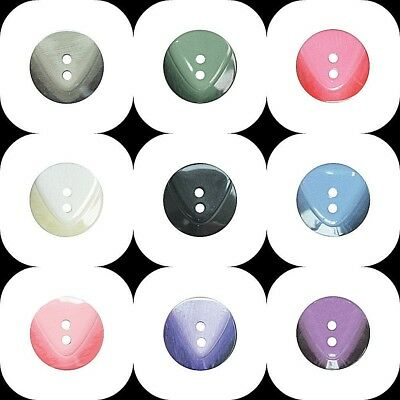 Round Fine Style Buttons All Sizes Choice Of Colours