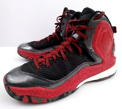 97de5d7521ab Adidas Derrick Rose Boost 5 Men s Basketball Black Red High Top Shoes Size  10
