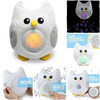 Baby Sleep Aid Night Light Sound Soother Nursery Plush Toy Song For Crib Bedtime