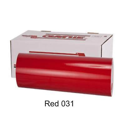 """12"""" x 10 yd roll (30') - Oracal 651 Vinyl - Adhesive Permanent Outdoor - Red 031"""
