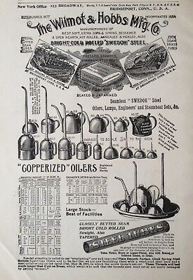 1897 Ad(1800-27)~The Wilmont & Hobbs Mfg. Co. Bridgeport, Conn. Oilers, Lamps