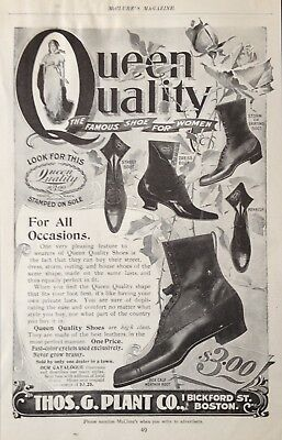 1899 Ad(1800-27)~Thos. G. Plant Co. Boston. Queen Quality Shoe's For Women