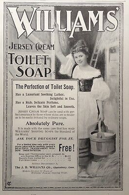 1897 Ad(1800-18)~J.b. Williams Co. Glastonbury, Conn. Jersey Cream Toilet Soap