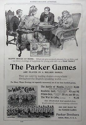 1898 Ad (1800-19)~Parker Brothers Co. Salem, Mass. Board Games