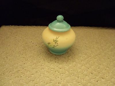 Asian/Japanese pottery jar with lid