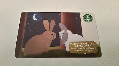 Starbucks Gift Cards NEW NO VALUE BUNNIES RABBIT ROMANCE MOON 2015 (One of 48)