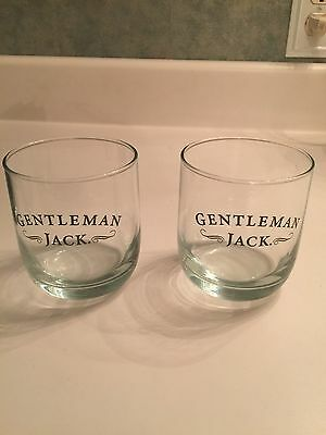 Pair Of Gentleman Jack Daniels Whiskey Rocks Glasses