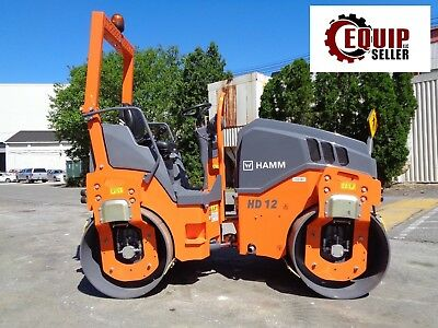New 2017 Hamm HD12 Roller Vibratory Asphalt Compactor -  47in Smooth Drums