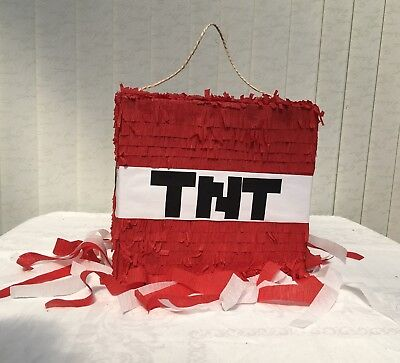 Tnt Party Minecraft Inspired Videogame Birthday Supplies Tableware