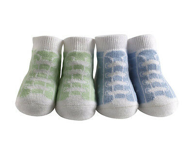 Great Gift Newborn High Top Sneakers Bamboo/Rayon Socks Gift set of 2 WOW!