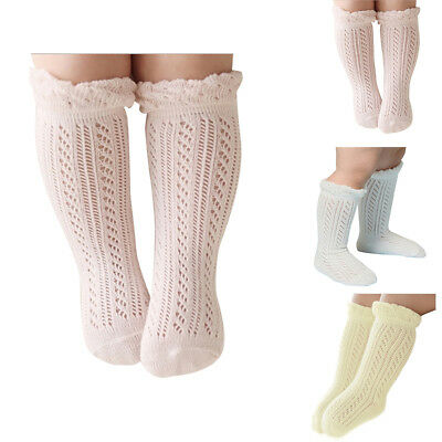 Kids Girl Baby Socks 0-4 Years Cotton Mesh Breathable Newborn Non-slip Sock