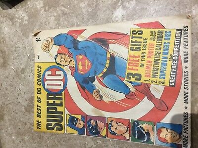 1st edition super DC Comic No1  from 1960s