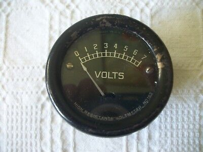 Vintage instrument High Resistance VOLTMETER No 153 Made in USA