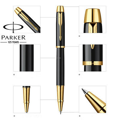 Luxurious Metal Parker IM rollerball pen 0.5mm Nib golden clip office stationery