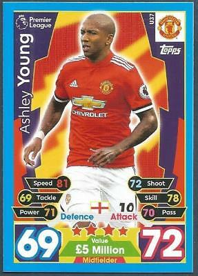 Topps Match Attax 2017-18-Extra-#U37-Manchester United-Ashley Young