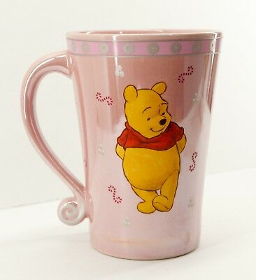 Winnie the Pooh Disney Store Mug Pink Cup Collectible Authentic