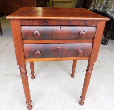 ANTIQUE STAND with TWO DRAWERS ( SHERATON 1830 )