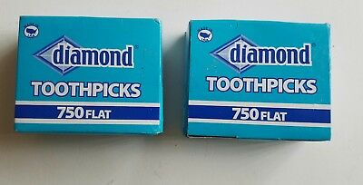 2 PACK - 750 Wood Diamond Toothpicks || Party Supply, Oral Care, Craft Needs