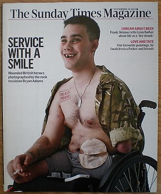 Wounded British Heroes by Bryan Adams - Sunday Times Magazine – 10 November 2013