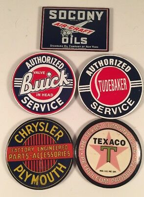 Collectible Automobile Magnets Lot Of 5 Used