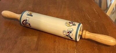 Looney Toons, Warner Bros. Rolling Pin, Ceramin & wood, collectible, baking