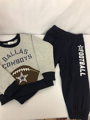 pick up 5b79e fb532 NFL Dallas Cowboys Little Boys Sweatsuit Set Size 3T Sweatshirt Pants Kids