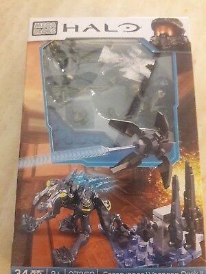 HALO MEGA BLOKS FORERUNNER WEAPONS PACK II MICRO ACTION FIGURE 34 pcs 97360 NEW