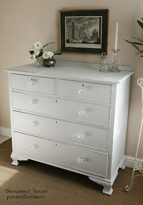 Pretty Vintage Hand Painted Shabby Chic Chest of Drawers