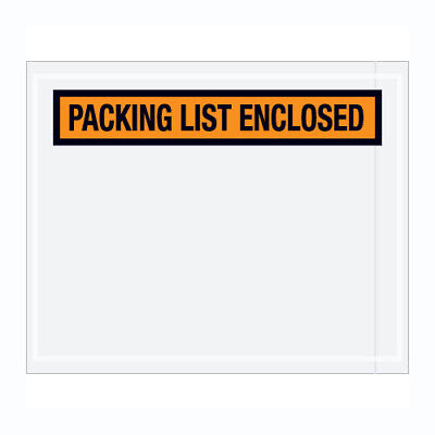 """1000 Packing List Enclosed Envelopes 7.5""""x5.5"""" PANEL FACE Pouch"""