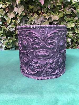 Rare Antique 19th Century Continental Solid Lead Planter Jardiniere