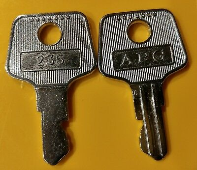 Pair of APG 235 Keys for Vasario Cash Drawers - Register Till Key # VPK-8K-235