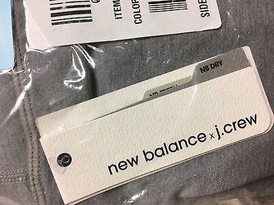 7db61e68444f13 NWT New Balance For J.Crew Performance Seamless Cropped Leggings Grey  Silver XS