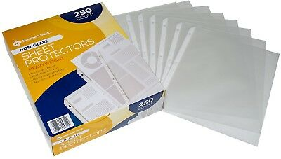 Non Glare Heavyweight Sheet Protectors-250 Ct-Acid Free-Top Loading-Reinforced
