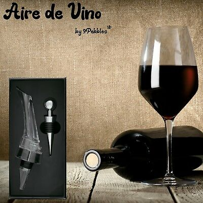 NEW: Wine Aerator Decanter Pouring Spout and Bottle Stopper in Luxury Gift Box