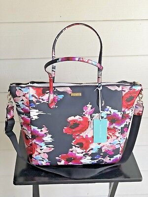 NWT Kate Spade Laurel Way Printed Blurry floral ADAIRA Tote Baby Diaper Bag $329