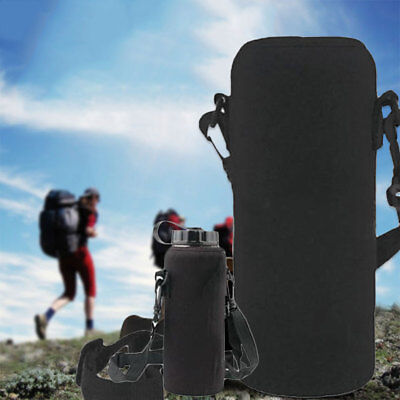 750ML Neoprene Water Bottle Shoulder Carrier Insulated Cover Bag Holder Drink C