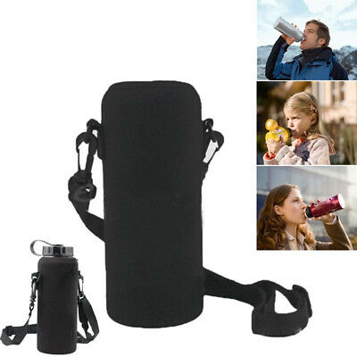 600ML Neoprene Water Bottle Carrier Insulated Cover Bag Holder Strap Useful