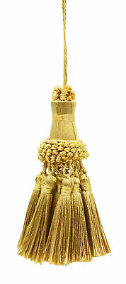 "Elegant Key Tassel / 4"" tassel, 3.5"" Loop  Style# NKT - Light Gold Mix"