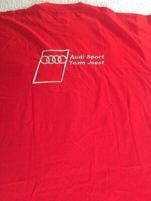 Audi Sport Team Joest Racing    Embroidered  T-shirt Lrg NWOT  Free Shipping