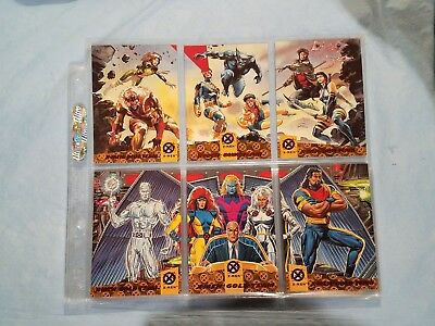 1994 Fleer Ultra X Men Eslusive Blue And Gold + 3 Phone Cards