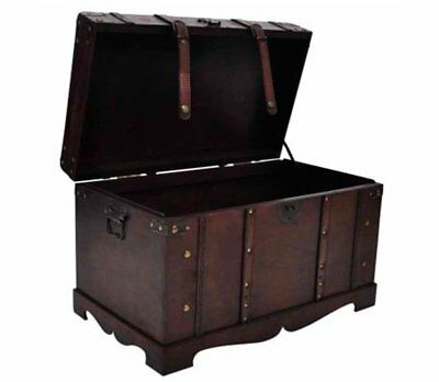 Charmant Vintage Wooden Large Chest Trunk Clothes Storage Box Treasure Wood Organiser