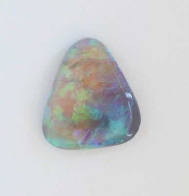 LIGHTNING RIDGE BLACK CRYSTAL OPAL 2.79CT 12.8x11.4  SOLID NATURAL TRIANGE STONE