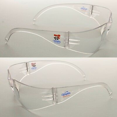 db3c2e01f922 2 x Newcastle Knights NRL Safety Eyewear Glasses Carbonate Protect Work  CLEAR