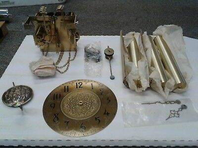 VINTAGE GERMAN GRANDFATHER CLOCK MOVEMENT URGOS UW 32/2 Triple chime with  chains