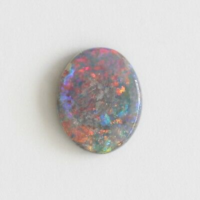 SOLID NATURAL SEMI BLACK OPAL 1.25CT 9.9x8.0 LIGHTNING RIDGE AUSTRALIA LOOSE